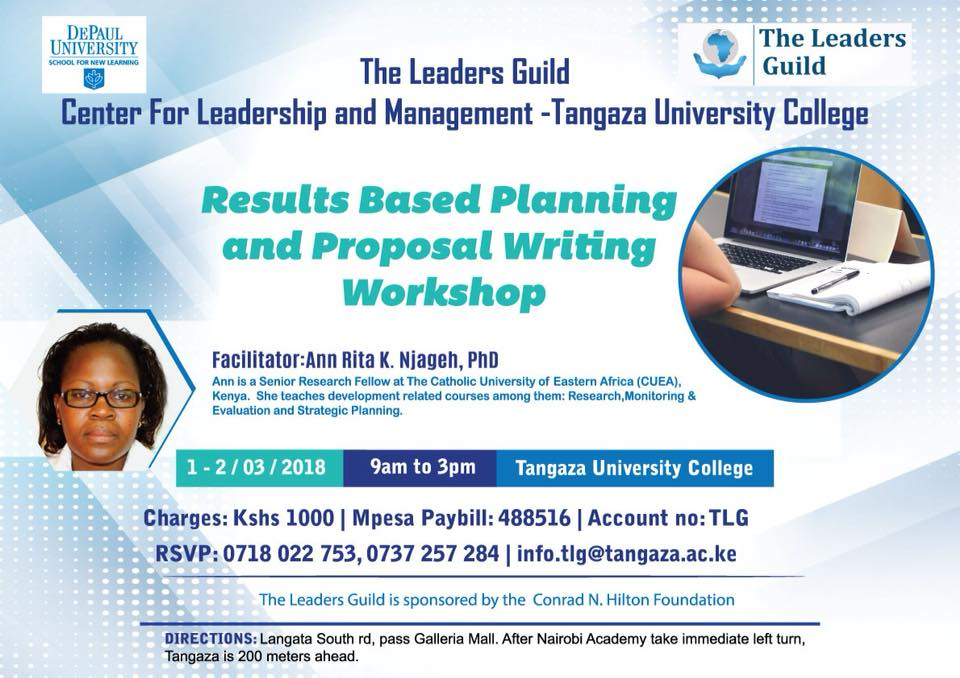Colleges and Universities Offering Proposal Writing and Fundraising Skills() in Kenya